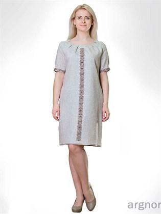 Платье изо льна с вышивкой