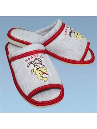 Тапки валяные с открытым носком