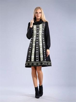 Платье из полушерсти