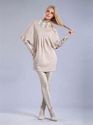 Платье изо льна с полушерстью
