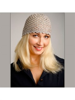 Льняная шапочка ручной работы