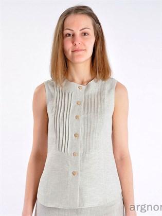 Блуза с защипами