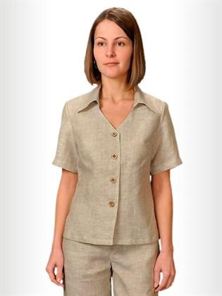 Блуза изо льна короткая