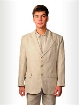 Пиджак мужской классический изо льна