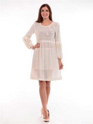 Платье льняное с ромашками