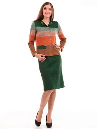 Костюм из льна: жакет и юбка
