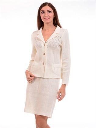 Трикотажная льняная юбка
