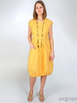 Платье изо льна с карманами
