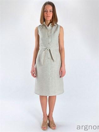 Платье льняное на пуговицах