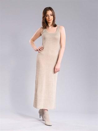Длинное платье изо льна