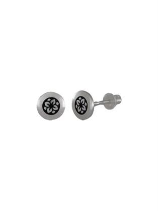 Серьги - гвоздики из серебра