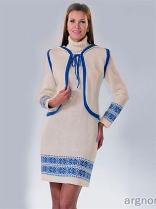 Платье льняное трикотажное