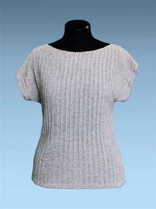 Льняная блуза с вырезом лодочка