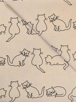 Комплект постельного белья полутороспальный с кошками