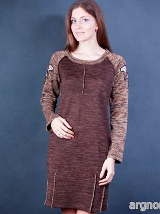 Вязаное платье прямого кроя
