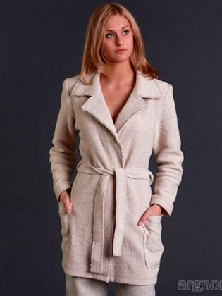 Жакет-пальто из льна с полушерстью