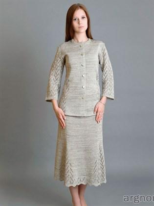 Льняная юбка 4 клина