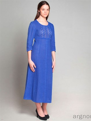 Вязаное платье с завышенной талией