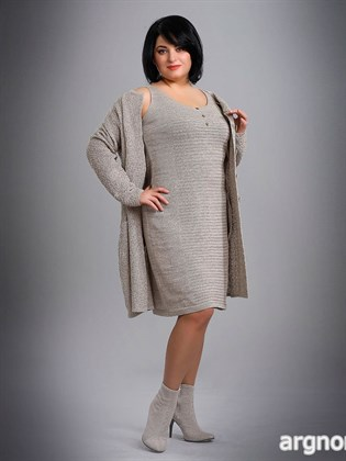 Трикотажное платье-сарафан