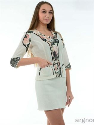 Короткая льняная юбка