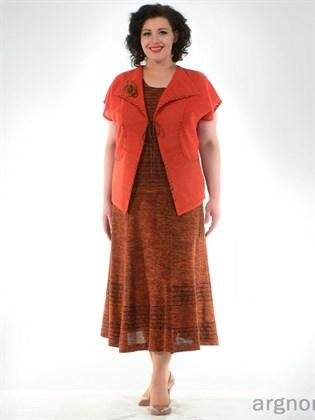 Вязаная юбка в форме трапеция