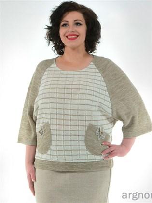 Джемпер с декоративными карманами