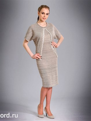 Льняное платье с имитацией жакета