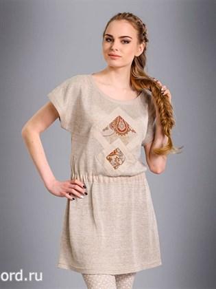Платье-туника изо льна
