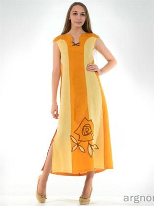 Летнее платье с разрезами