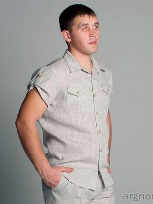 Льняная мужская рубашка