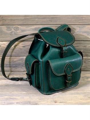Рюкзак малый из жесткой кожи