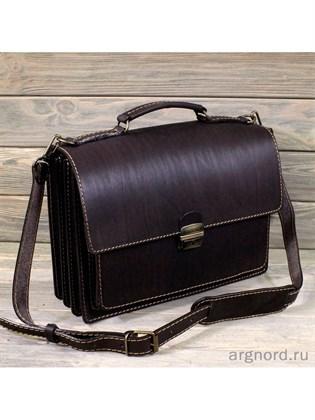 """Кожаный портфель """"Столичный"""""""