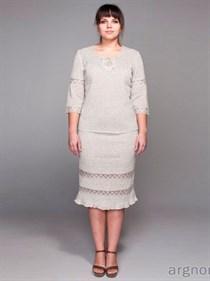 Льняная юбка с кружевом