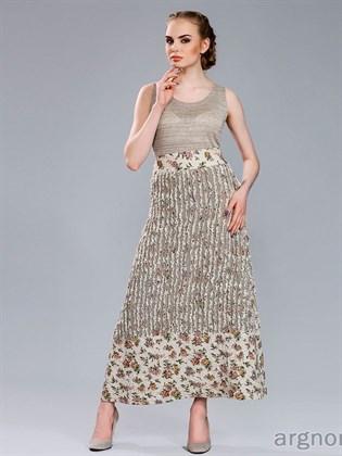 Длинная льняная юбка (синель)
