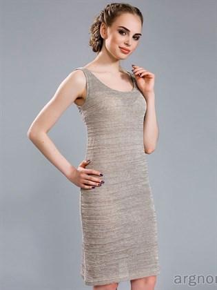 Прямое вязаное платье