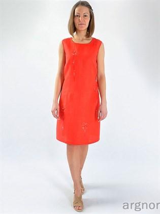 Прямое летнее платье изо льна
