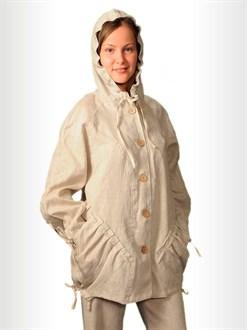 Куртка-ветровка женская изо льна