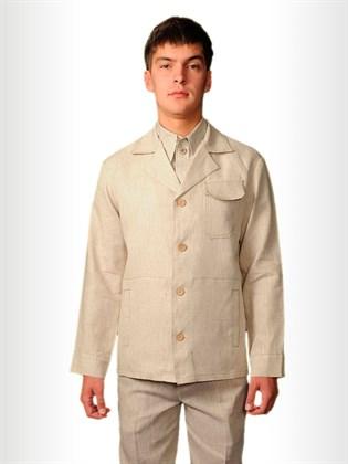 Классическая мужская куртка из льна