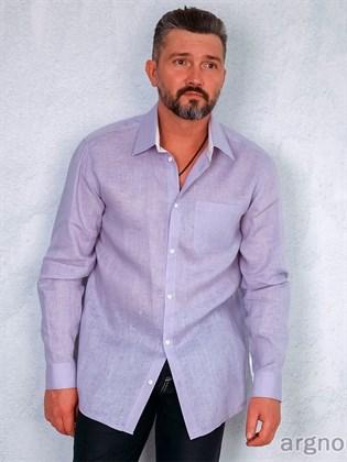 Мужская сорочка изо льна с длинным рукавом