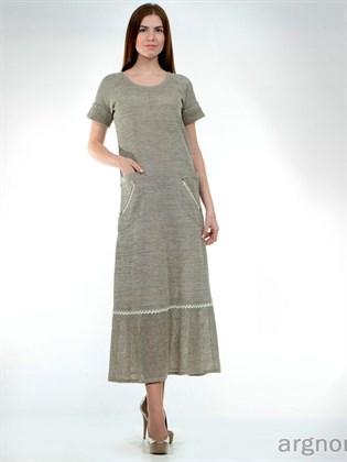 Платье из натуральной льняной пряжи