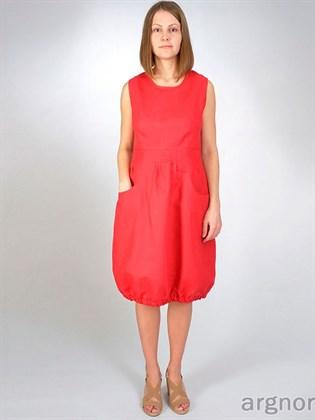 Льняное платье с карманами