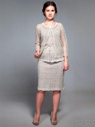Льняная юбка с подъюбником