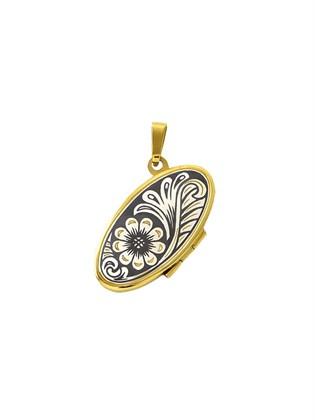 Серебряный медальон с позолотой