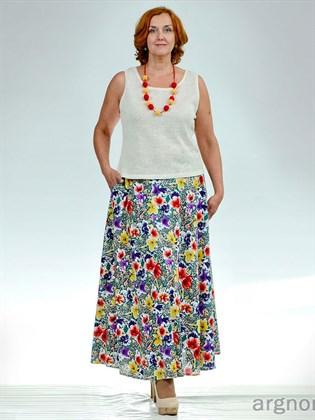 Цветная летняя юбка