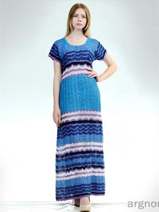Платье вязаное из льняной пряжи