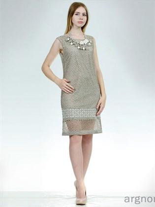 Ажурное льняное платье