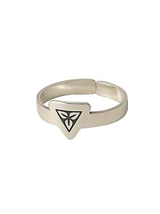Серебряное кольцо с черневым рисунком