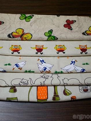 Комплект кухонных полотенец - 5 шт (лен, хлопок)