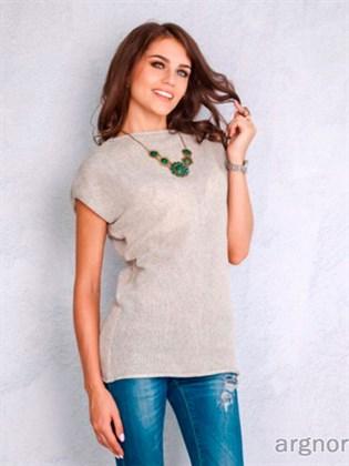 Вязаная блуза изо льна