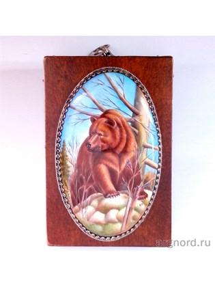 """Панно с медведем """"Охота"""" - подарок охотнику"""